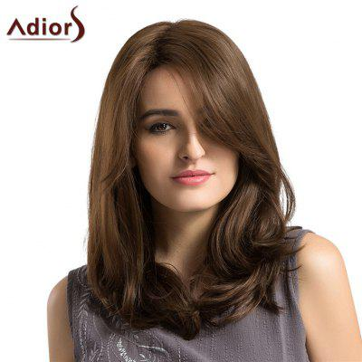 Adiors Long Side Parting Fluffy Layered Straight Bob Synthetic Wig