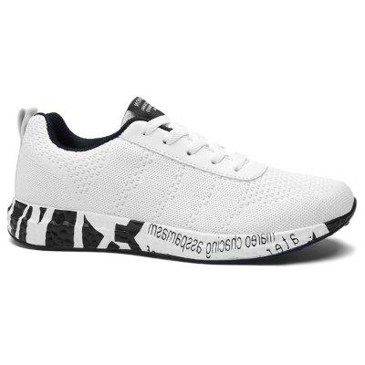 Buy WHITE Letter Mesh Breathable Sneakers for $37.18 in GearBest store