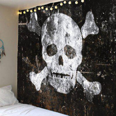 Buy GRAY Halloween Distressed Skull Pattern Wall Hanging Tapestry for $14.44 in GearBest store