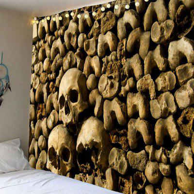 Buy KHAKI GREY Halloween Skull Wall Printed Wall Art Tapestry for $12.27 in GearBest store