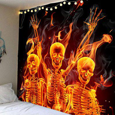 Buy COLORFUL Wall Hanging Halloween Skulls Printed Waterproof Tapestry for $12.27 in GearBest store