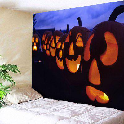 Buy COLORMIX Jack O Lantern Wall Art Halloween Tapestry for $18.28 in GearBest store