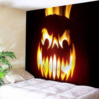 Buy BLACK Pumpkin Lantern Wall Decor Halloween Tapestry for $17.23 in GearBest store