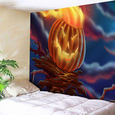 Buy COLORMIX Pumpkin Lamp Print Wall Art Halloween Tapestry for $20.64 in GearBest store