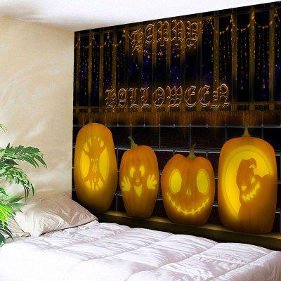 Buy COLORMIX Wall Art Pumpkin Lantern Halloween Tapestry for $18.28 in GearBest store