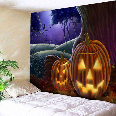 Buy COLORMIX Halloween Graphic Pumpkin Lamp Tapestry for $12.79 in GearBest store
