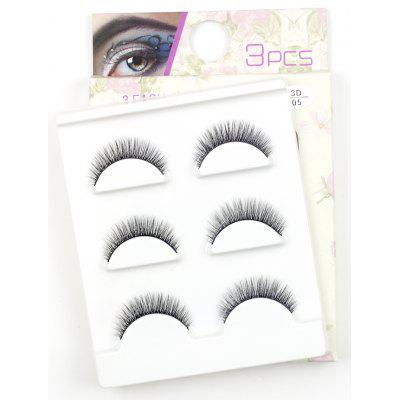 3 Pairs Make-up Natural Long Extension False Eyelashes Set