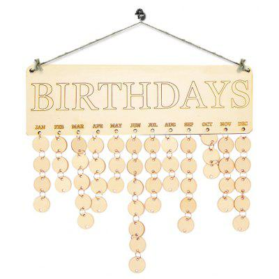 DIY Hanging Wooden Birthdays Calendar Reminder Board