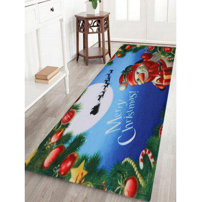 Merry Christmas Snowman Pattern Water Absorption Indoor Outdoor Area Rug