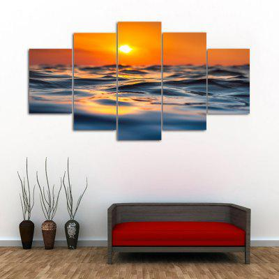Sunset Ocean Print Unframed Canvas Split Paintings