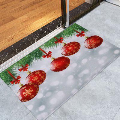 Christmas Baubles Pattern Water Absorption Area Rug