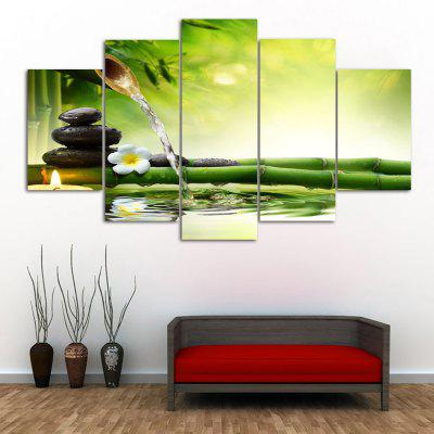 Bamboo Stream Print Unframed Canvas Split Paintings