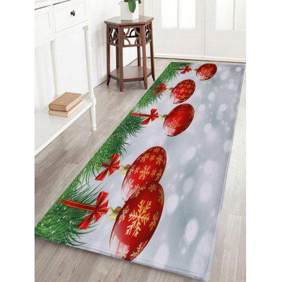 Christmas Baubles Pattern Water Absorption Indoor Outdoor Area Rug