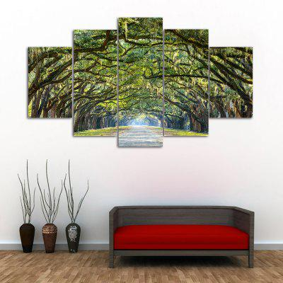 Buy GREEN Forest Avenue Print Unframed Canvas Split Paintings for $13.94 in GearBest store