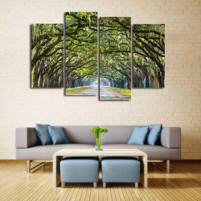 Buy GREEN Forest Avenue Print Unframed Canvas Split Paintings for $14.27 in GearBest store