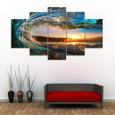Buy COLORMIX Sunset Wave Print Unframed Canvas Split Painting for $16.34 in GearBest store