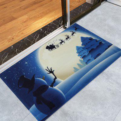Christmas Snowman Sled Tree Antiskid Area Rug