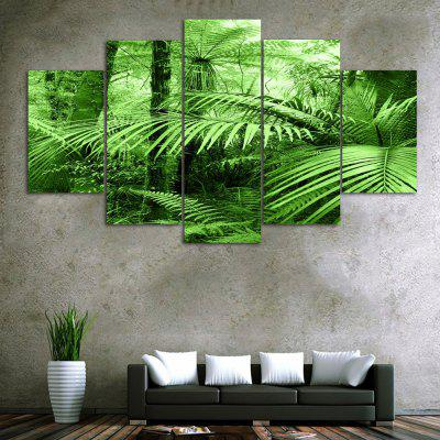 Forest Leaf Print Unframed Canvas Split Paintings