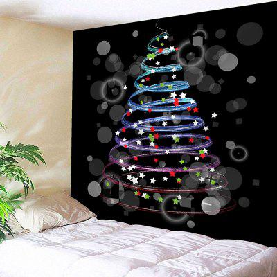 Buy COLORFUL Colorful Stars Pattern Waterproof Christmas Wall Hanging Tapestry for $12.27 in GearBest store