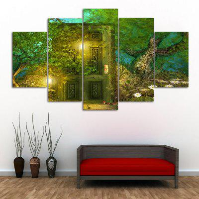 Forest Door Print Unframed Canvas Split Paintings