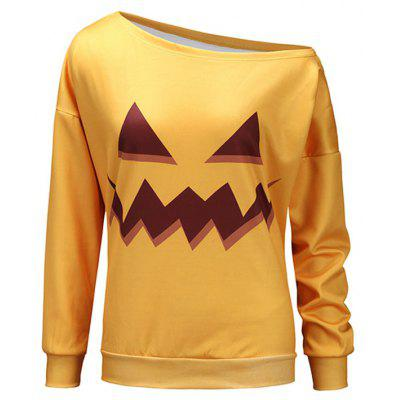 One Shoulder Halloween Sweatshirt