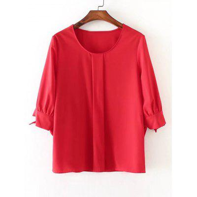 Bow Tied Sleeve Chiffon Blouse