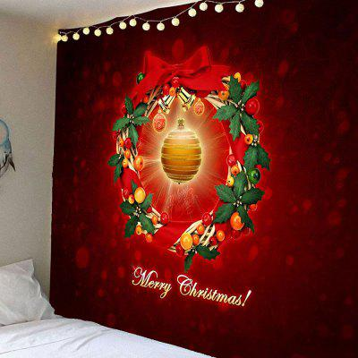 Buy COLORFUL Christmas Bell Pattern Waterproof Wall Hanging Tapestry for $16.59 in GearBest store