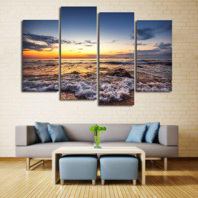 Buy Beach Sunset Print Unframed Canvas Split Paintings COLORMIX Home & Garden > Home Decors > Wall Art > Prints for $15.39 in GearBest store