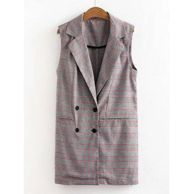 Houndstooth Double-breasted Waistcoat