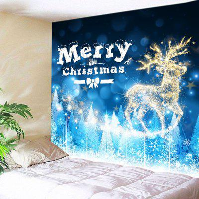 Wall Hanging Art Christmas Deer Print Tapestry