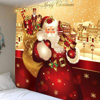 Father Christmas Printed Waterproof Wall Hanging Tapestry