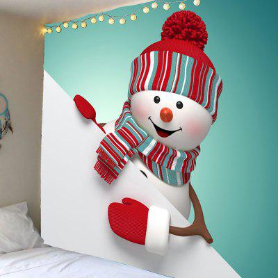 Waterproof Cute Christmas Snowman Pattern Wall Hanging Tapestry