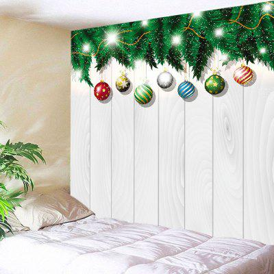 Wall Hanging Art Christmas Baubles Wood Print Tapestry