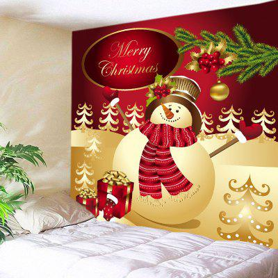 Wall Hanging Art Christmas Snowman Gifts Print Tapestry