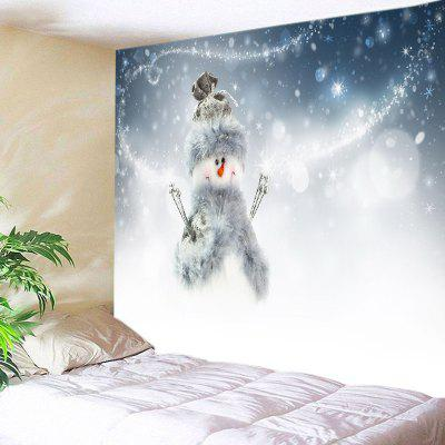 Wall Hanging Decor Christmas Snowman Print Tapestry