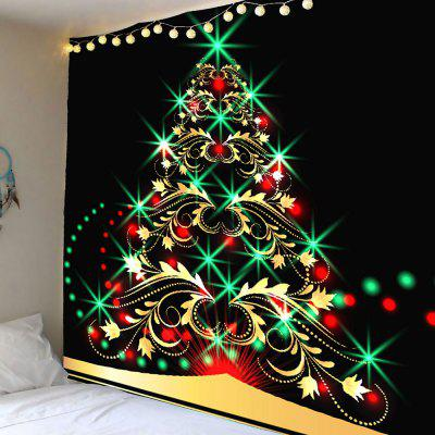 Colored Christmas Tree Pattern Waterproof Wall Hanging Tapestry