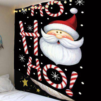 Santa Claus Head Pattern Wall Hanging Tapestry
