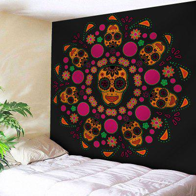 Wall Art Skull Flower Print Wall Tapestry