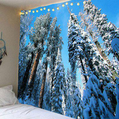 Hanging Snow Trees Waterproof Wall Decor Tapestry