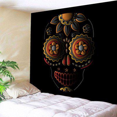 Floral Skull Printed Wall Tapestry