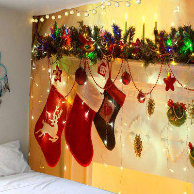 Christmas Socks Decorations Patterned Wall Tapestry