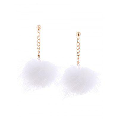 Fuzzy Ball Chain Earrings samsung fuzzy s821 запчасти