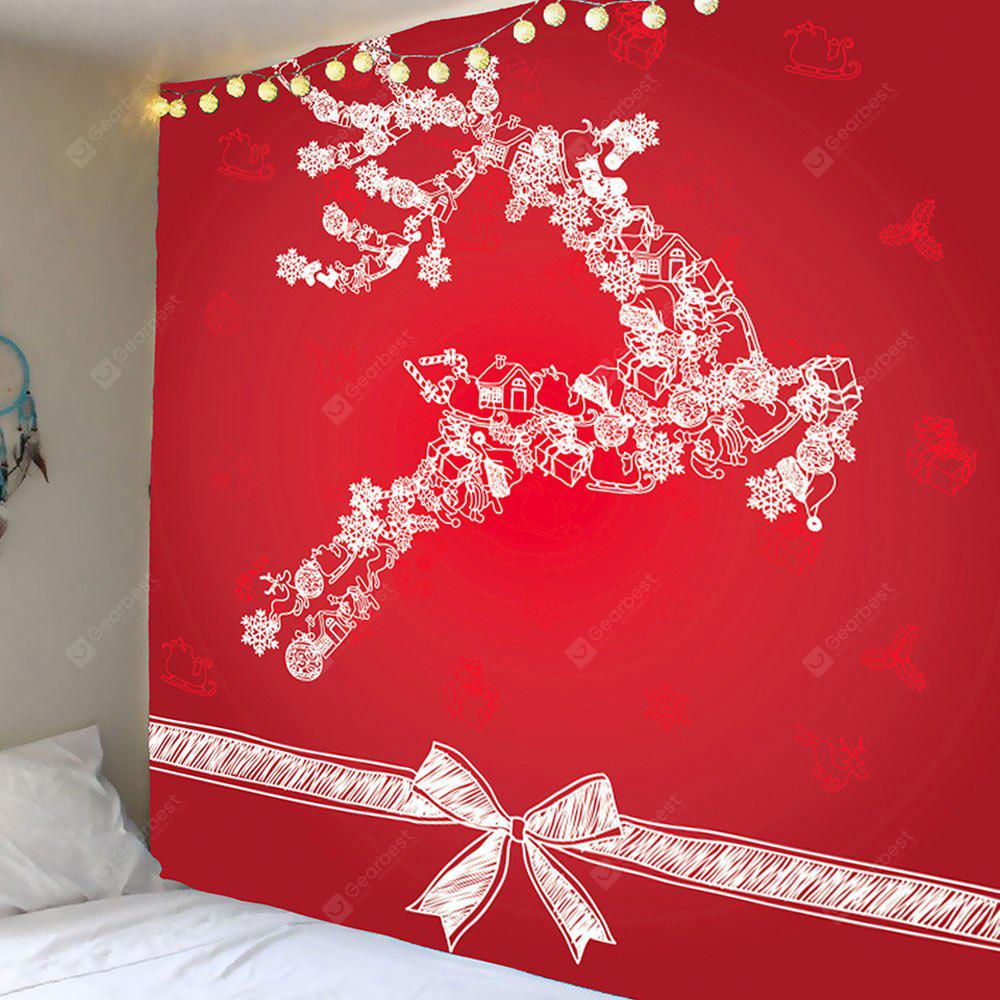 Christmas Reindeer Printed Wall Hanging Tapestry