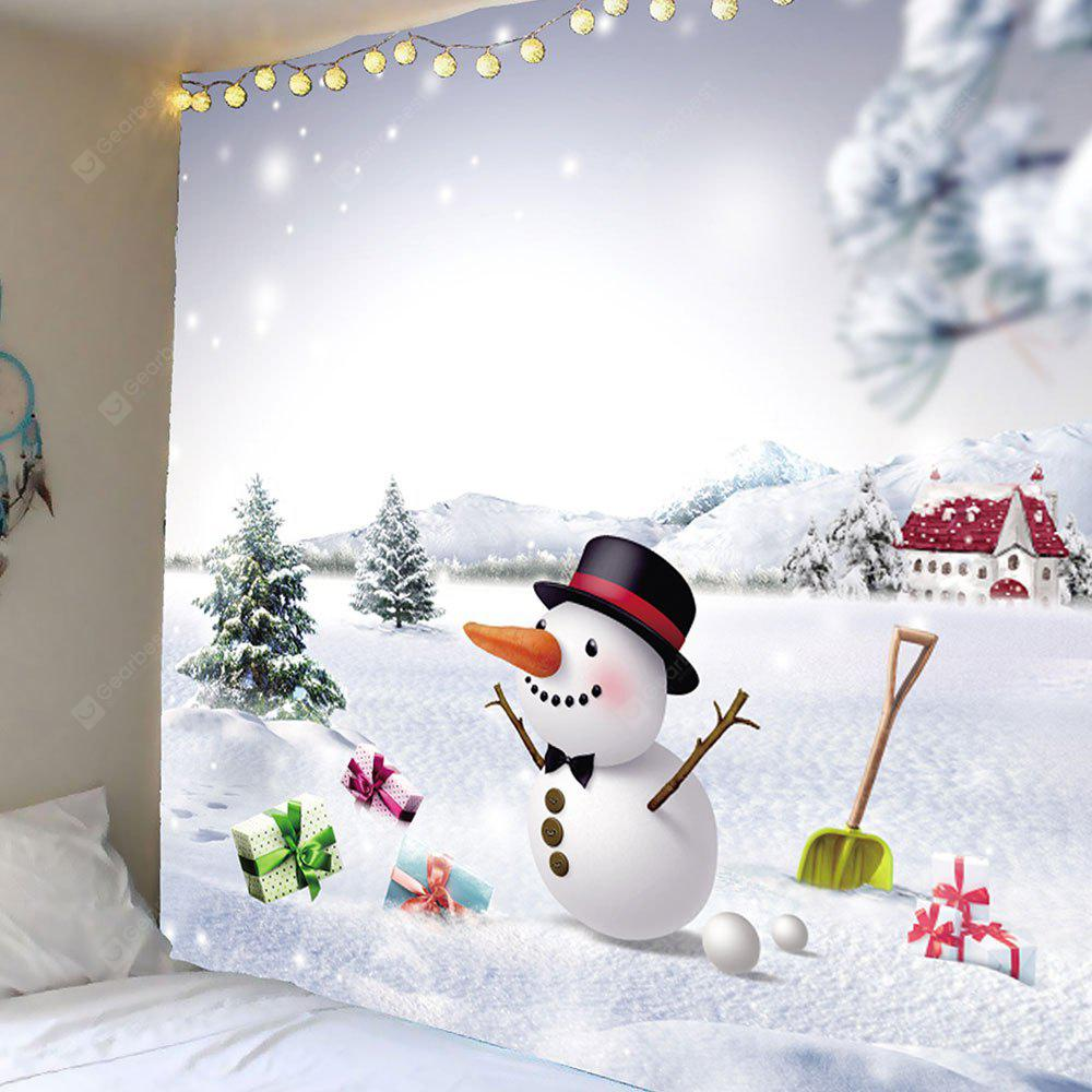 Snows and Christmas Snowman Pattern Waterproof Wall Hanging Tapestry