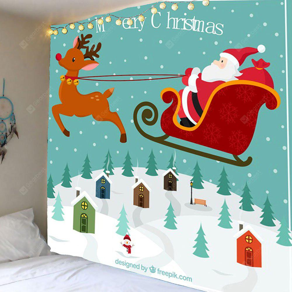 Christmas Carriage Patterned Wall Decor Hanging Tapestry