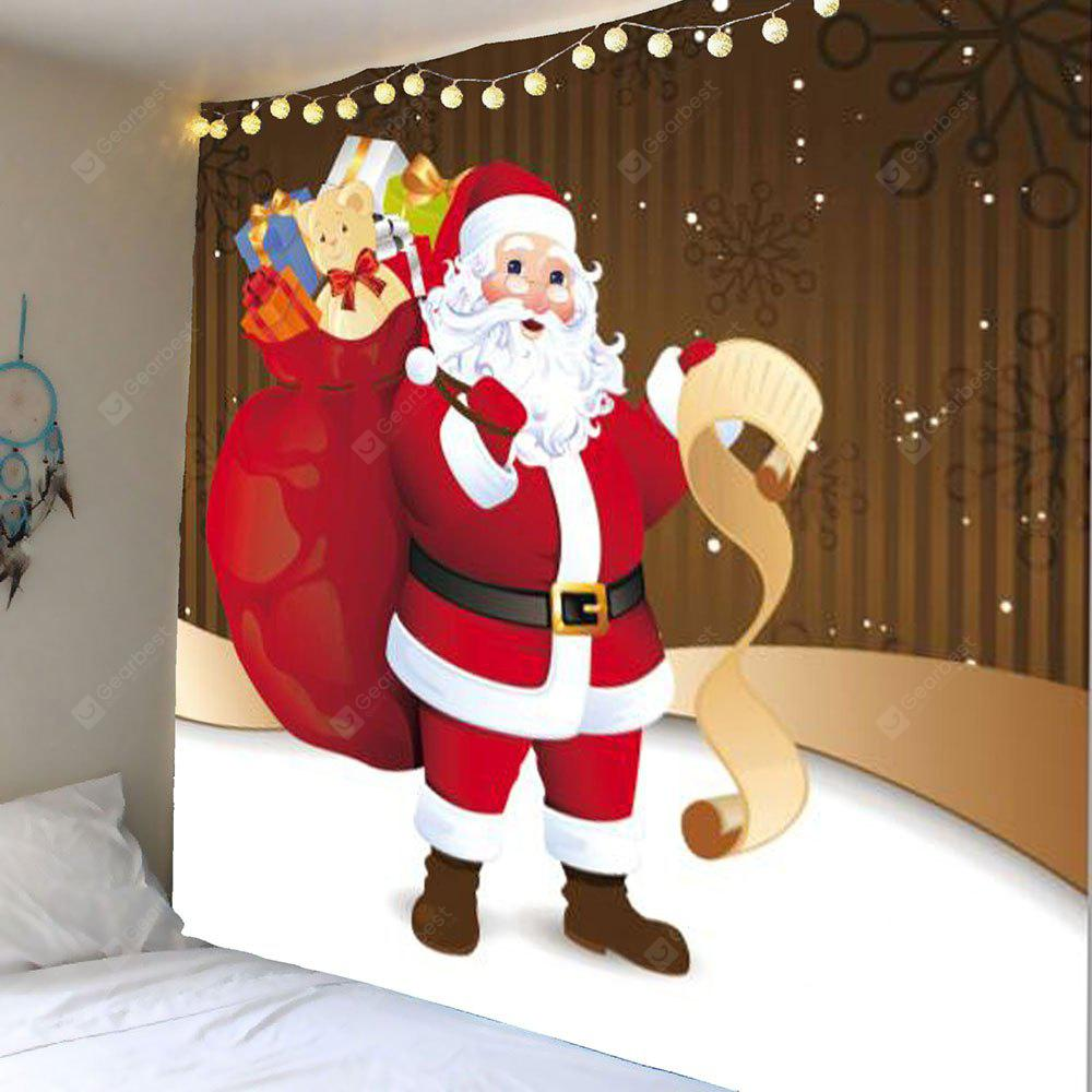 Wall Hanging Santa Claus With Gifts Patterned Tapestry