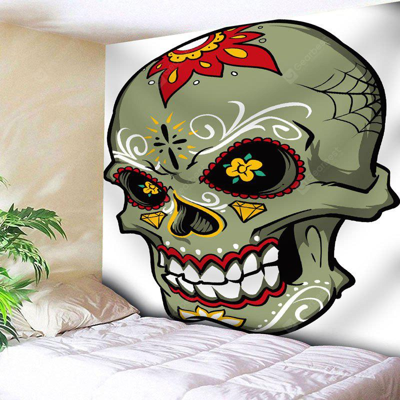 Wall Hanging Flower Skull Print Tapestry