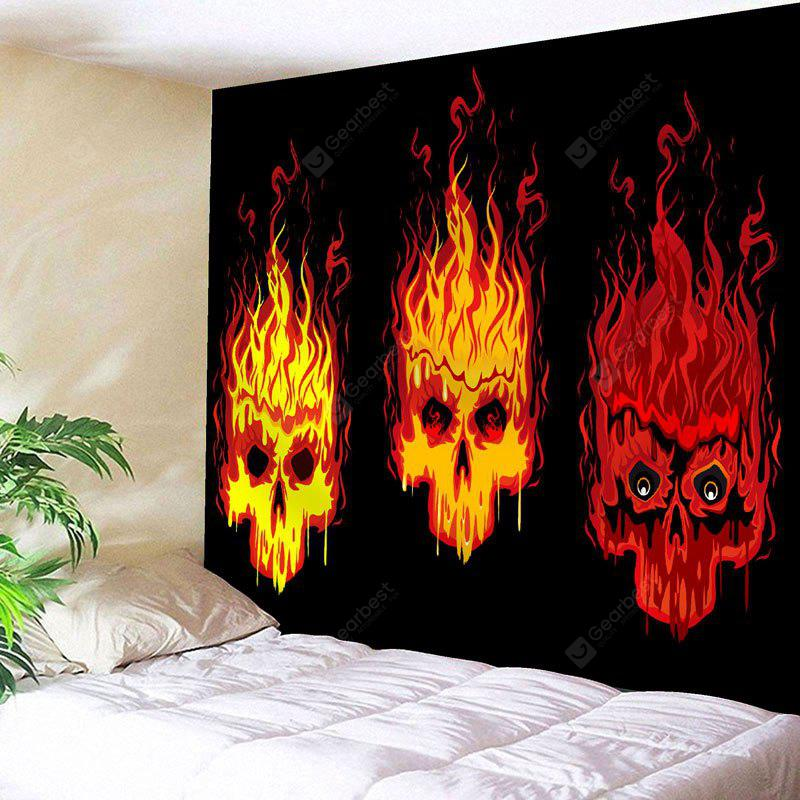 Fire Skulls Print Wall Hanging Tapestry
