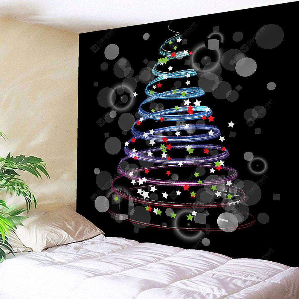 Colorful Stars Pattern Waterproof Christmas Wall Hanging Tapestry