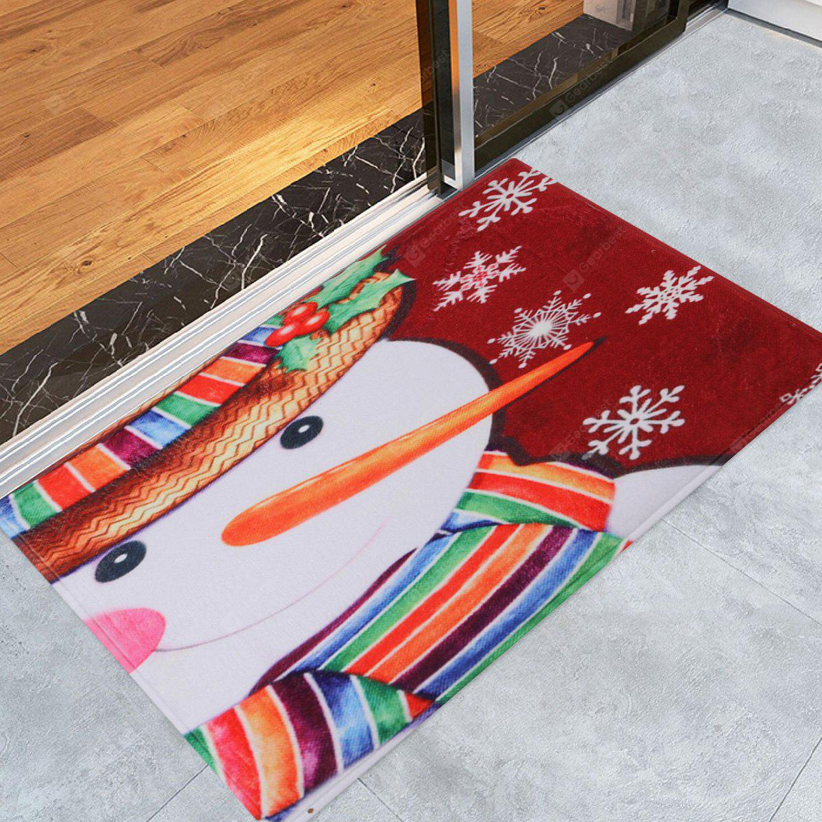 Christmas Snowman Pattern Water Absorption Area Rug